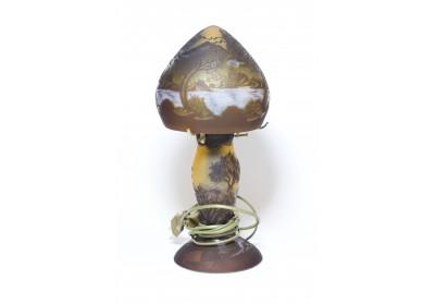 Veioză medie sticlă Gallé 34cm