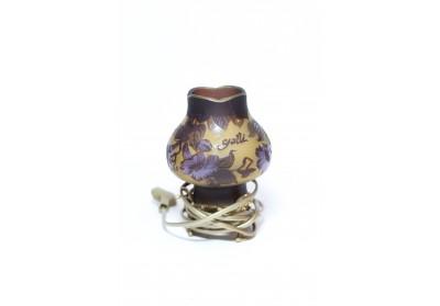 Veioză mică sticlă Gallé 17cm