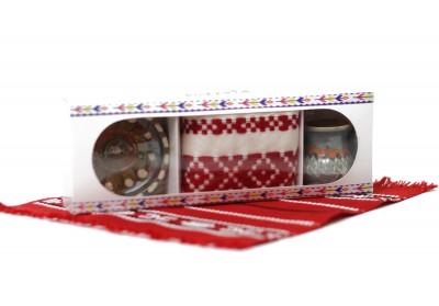 Cutie cu 3 produse traditionale set cu canita