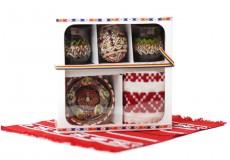 Cutie cu 5 produse traditionale set mare mixt